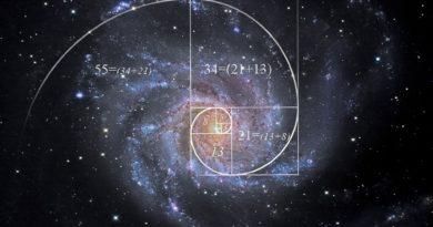 Fibonacci em uma Galáxia Espiral