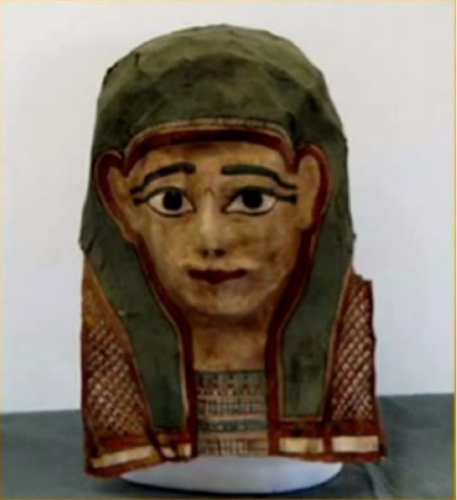 Exemplo de uma máscara mortuária egípcia. Imagem fonte: Revista Adventista: Arqueologia Bíblia